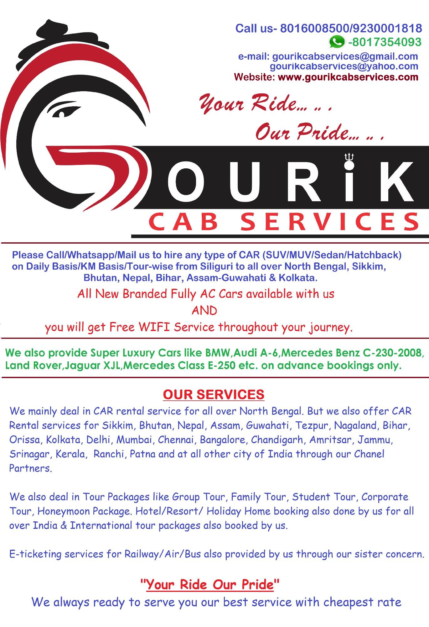 Gourik Cab Services - Deshbandhu Para, Siliguri, 734004 - Sulekha
