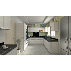 Krios Elena White U Shaped Kitchen
