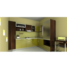 Krios OLIVE WOODS L Shaped Kitchen
