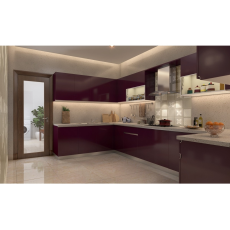 Livspace Orchid Garden U Shaped Kitchen
