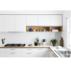Yagotimber SMOKY WHITE L Shaped Kitchen