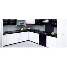 Black Indian L Shaped Kitchen Price Specification Features Sleek