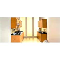 Cream Indian L Shaped Kitchen